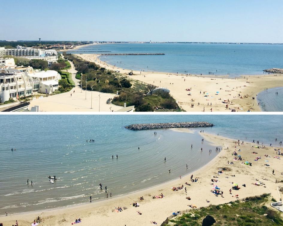 la grande roue vue aérienne plage mer