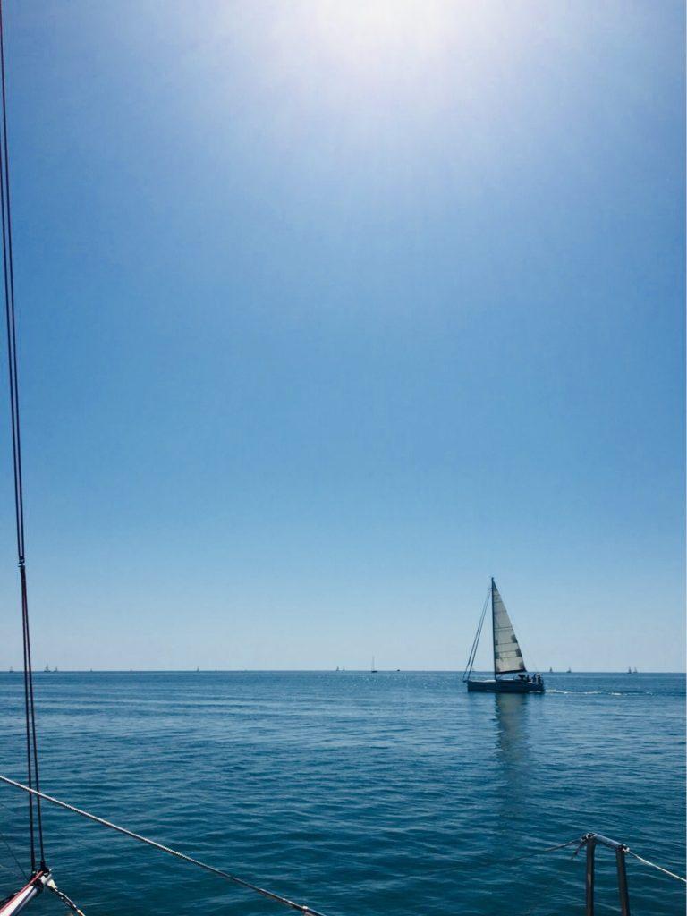 vue mer catamaran Lucile 2