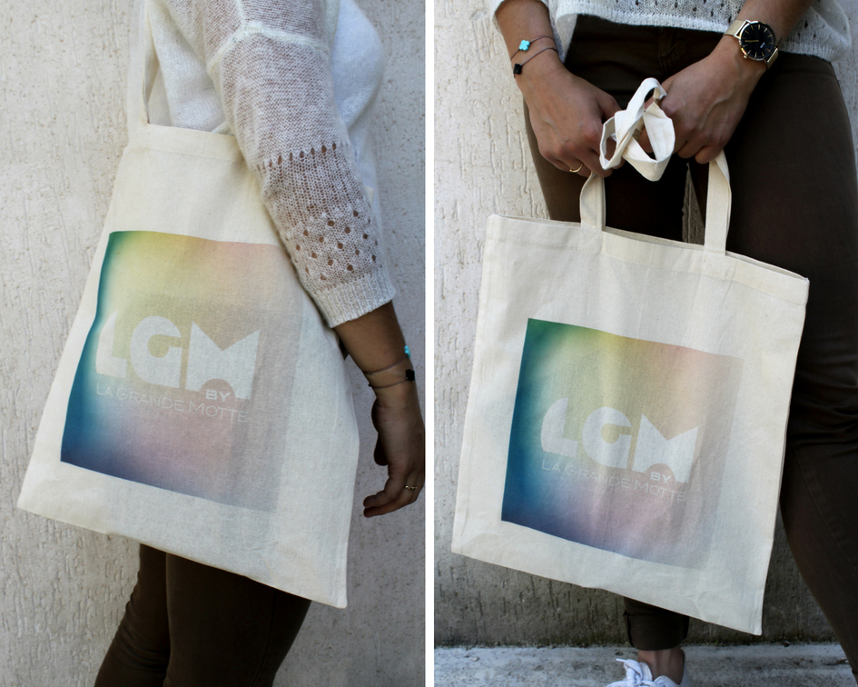 tote bag LM coloris rainbow