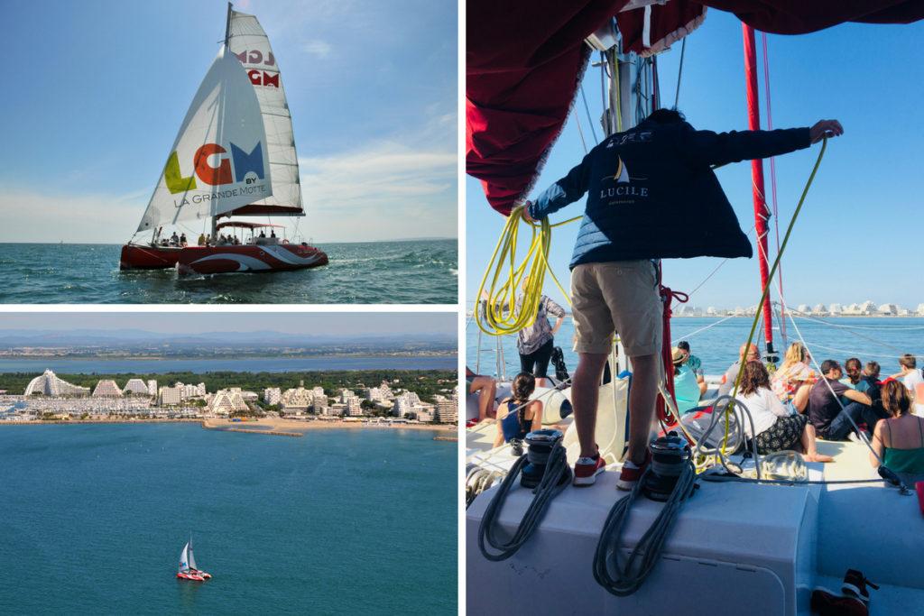 les activités nautiques : Visite de La Grande Motte depuis la mer avec le Catamaran Lucile II
