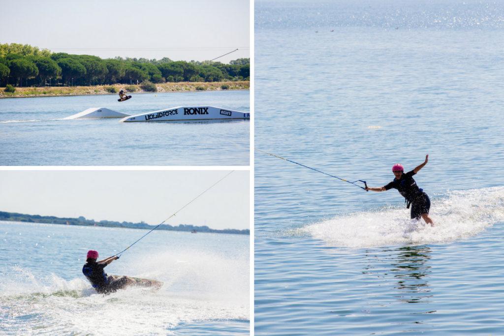 les sports nautiques : Wakeboard sur l'étang du Ponant de La Grande Motte
