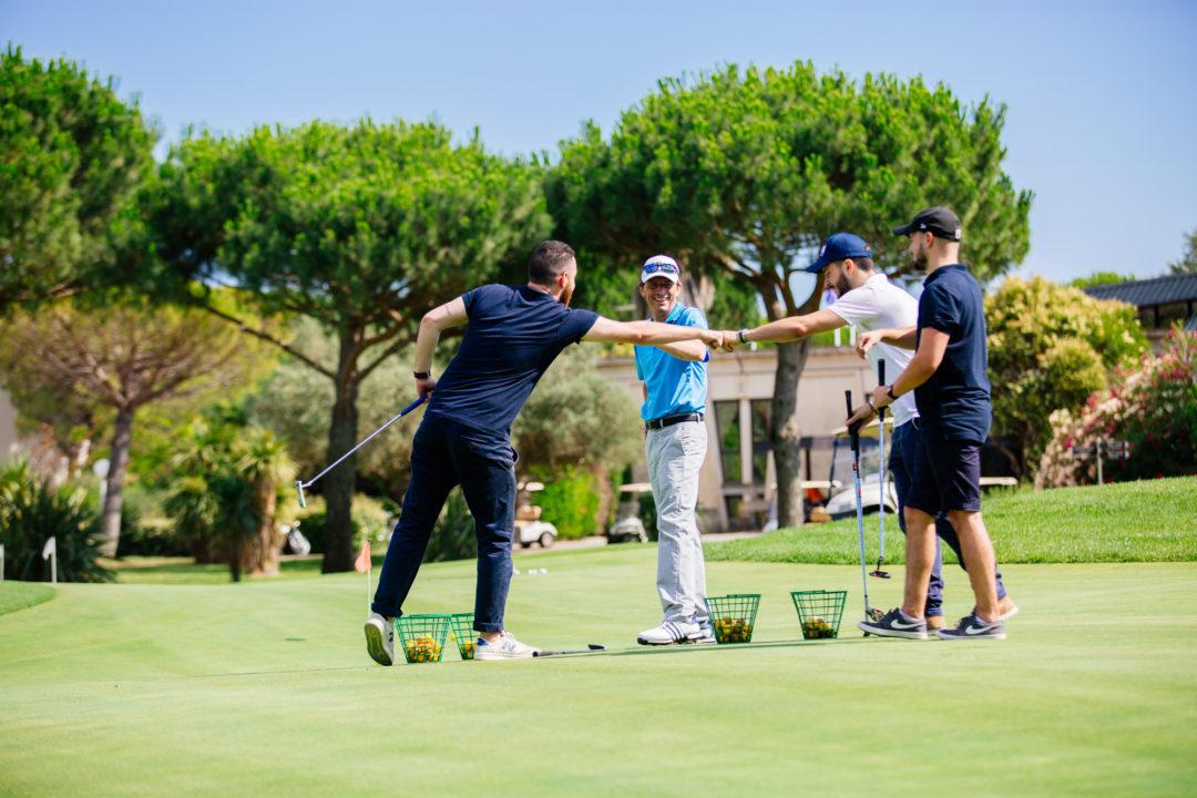 Golf entre copains à La Grande Motte